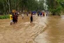 लगातार हो रही बारिश से अंबाला में बने बाढ़ जैसे हालात