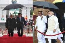 इन देशों के राष्ट्राध्यक्षों ने PM मोदी के लिए पकड़ा छाता
