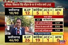 Assembly Election Result 2018 : छत्तीसगढ़ में बीजेपी को मिली शुरुआती बढ़त