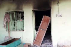 गुरमीत राम रहीम के नाम चर्चा घर में आग, सारा सामान जला