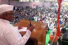 कोटा में अन्ना हजारे ने कहा, मोदी को किसानों से ज्यादा उद्योगपतियों की चिंता