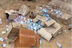 श्रीगंगानगर में शराब ठेके से परेशान महिलाओं ने ठेके में घुसकर बाहर फेंकी शराब