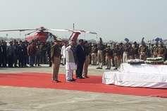 PHOTOS:  पटना एयरपोर्ट पर शहीद जवानों को दी गई सलामी