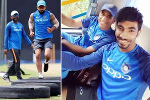 PHOTOS: श्रीलंका से पहला वनडे कल, टीम इंडिया ने किया ऐसे अभ्यास