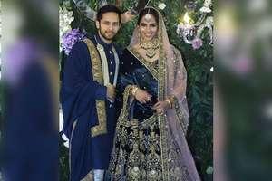 PHOTOS: सायना नेहवाल का रिसेप्शन, पति कश्यप के साथ रॉयल अंदाज़ में आईं नज़र