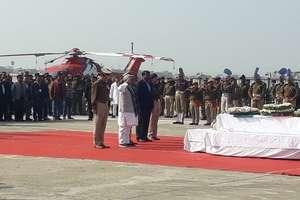 PHOTOS :  पटना एयरपोर्ट पर शहीद वीर जवानों को दी गई सलामी