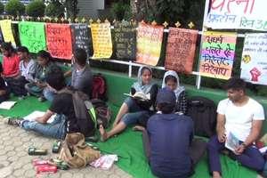 शिक्षक-पुस्तक आंदोलन, 36वां दिनः धरने में पढ़ाई-लिखाई जारी