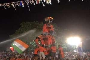 दही हांडी प्रतियोगिता में दिखा गोविंदाओं का उत्साह