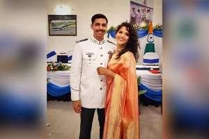 प्लेन क्रैश में शहीद समीर की पत्नी एयरफोर्स में शामिल