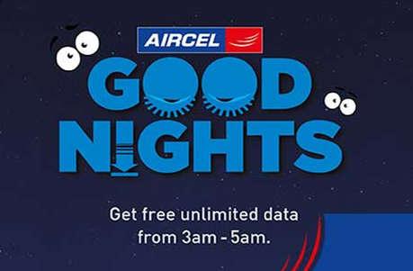 एयरसेल के 'गुडनाइट ऑफर' से यूजर्स को मिलेगा हर दिन फ्री डेटा