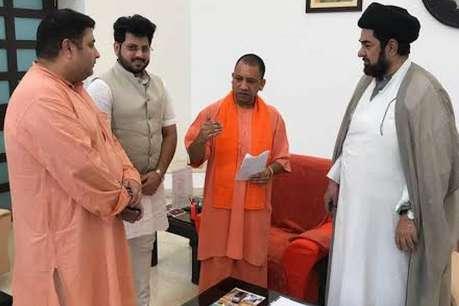 आजम खान के खिलाफ जांच की मांग को लेकर सीएम योगी से मिले शिया धर्म गुरु कलवे जब्बाद