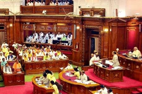 यूपी विधानसभा में गूंजा आईएएस की मौत का मामला, कर्नाटक की कांग्रेस सरकार को घेरा