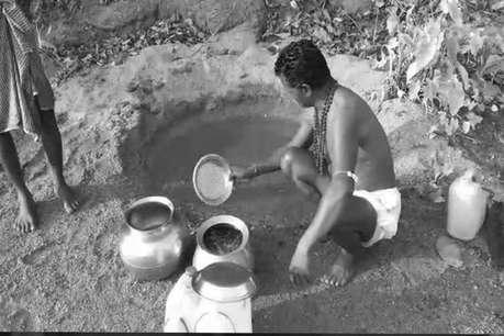 गरियाबंद में पानी की समस्या हुई विकराल, ग्रामीण गंदे नालों का पानी पीने को मजबूर
