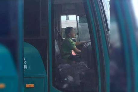 VIDEO: 12 साल के बच्चे ने पहले चुराई बस, फिर सड़कों पर यूं मचाया कोहराम