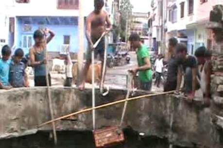 ब्यावर में नगरपालिका की अनदेखी के बाद लोगों ने खुद साफ कर दिया यह कुआं
