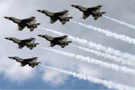 अमेरिकी वायुसेना की 70वीं वर्षगांठ का जश्न