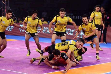 प्रो कबड्डी लीग: तेलुगु और बेंगलुरू के बीच मैच ड्रॉ