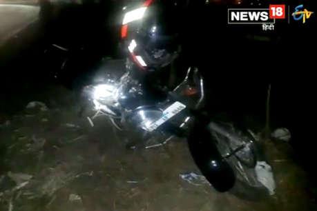 इटावाः ट्रक की चपेट में आने से बाइक सवार युवक की दर्दनाक मौत