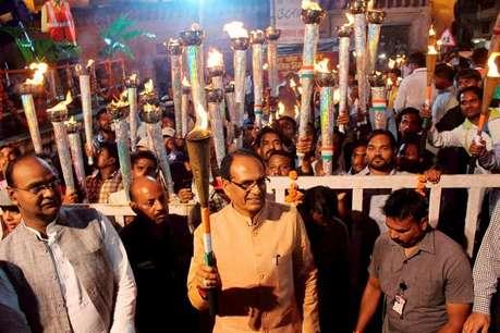 MP में भाजपा का नया नारा, 'नारी के सम्मान में, शिवराज सिंह मैदान में'