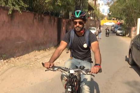 दुबई में नौकरी छोड़ रोहित दुनिया को साइकिल के जरिए देना चाहते हैं ये संदेश
