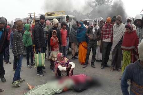 सुपौल : सड़क हादसे में 2 युवकों की मौत, घंटों जाम रहा एनएच