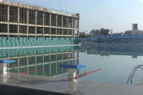 अंतरराष्ट्रीय हॉकी स्टेडियम परिसर में बने स्विमिंग पूल की गुणवत्ता पर कांग्रेस ने उठाया सवाल