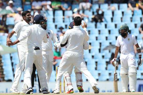 INDvsSA : पहले दिन हावी रहे गेंदबाज़, टीम इंडिया ने की शानदार वापसी