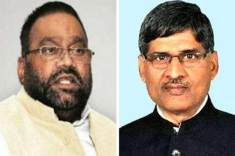 यूपी विधानसभा: बीजेपी नेता स्वामी प्रसाद मौर्य और बीएसपी के लालजी वर्मा में तीखी नोंकझोंक