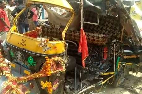 प्रतापगढ़: ट्रक-टेम्पो की भीषण टक्कर में 10 लोगों की दर्दनाक मौत