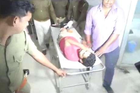 मऊ: पुलिस मुठभेड़ में दो बदमाश गिरफ्तार, एक को लगी गोली