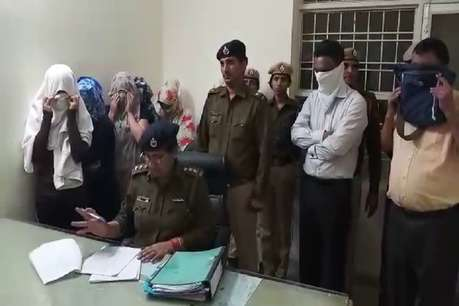 स्पा सेंटर की आड़ में चल रहा था सेक्स रैकेट, 7 लड़कियों सहित 10 गिरफ्तार