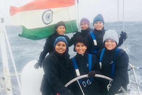 केपटाउन से रवाना हुई सागर परिक्रमा पर निकली महिला नेवी ऑफिसर्स की टीम