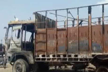 बद्दी में खड़े ट्रक में लगी भयंकर आग, 10 लाख का हुआ नुकसान