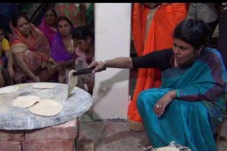 दलित के घर सीएम योगी के भोजन से पहले मंत्री स्वाति सिंह ने सेंकी रोटियां