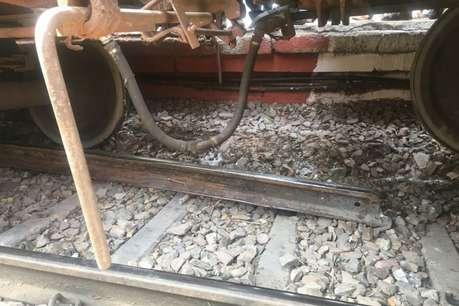 फिरोजाबाद रेलवे स्टेशन पर टला बड़ा हादसा, मालगाड़ी के 7 डिब्बे पटरी से उतरे