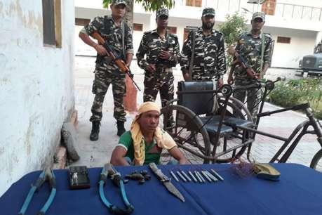 लखीमपुर खीरी: इंडो नेपाल बॉर्डर पर 10 डेटोनेटर के साथ दिव्यांग गिरफ्तार