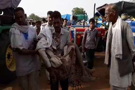 चना तुलवाने आए किसान की मंडी प्रांगण में मौत पर हंगामा