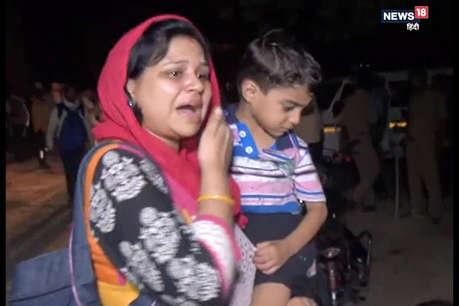 फिरोजाबादः ट्रक से टकराई कार में लगी भीषण आग, चार लोग जिंदा जले
