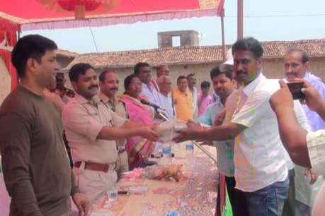 मंत्री सीपी सिंह के गांव में पुलिस आउटपोस्ट का उद्घाटन