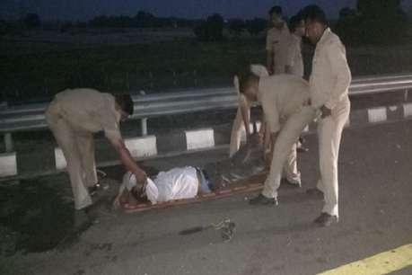 आगरा-लखनऊ एक्सप्रेस वे पर बस ने 12 को कुचला, 7 की मौत