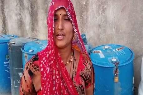 भीलवाड़ा के परसरामपुरा गांव में सात दिन पर आता है पानी का टैंकर
