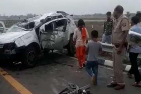 उन्नाव: एक्सप्रेस वे पर डिवाइडर से टकराई कार, 2 महिलाओं की मौत