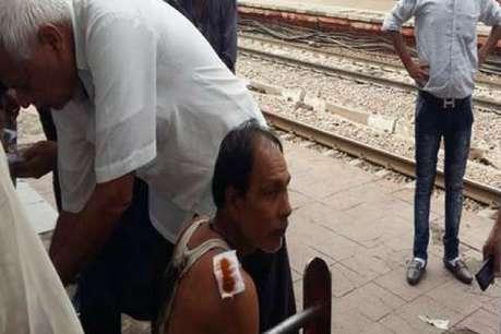 अलीगढ़: ट्रेन के नीचे आने के बाद भी जावेद ने दी मौत को मात