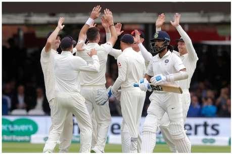 IND vs ENG: जेम्स एंडरसन के पंजे में फंसकर टीम इंडिया पहली पारी में 107 रन पर हुई ढेर