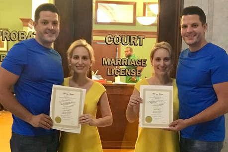 संयोग! जुड़वां बहनों ने जुड़वां भाइयों को बनाया जीवनसाथी, शादी कराने वाले पादरी भी जुड़वां