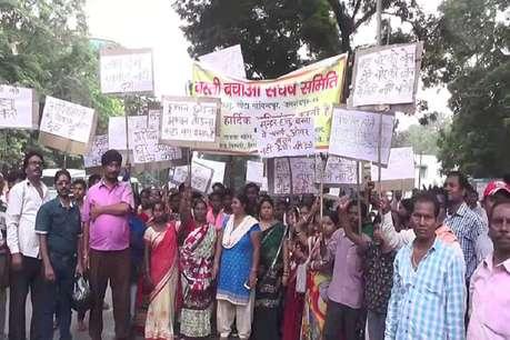 फ्लाई ओवर को सुन्दरहातू इलाके के ऊपर से ले जाने के विरोध में रैली