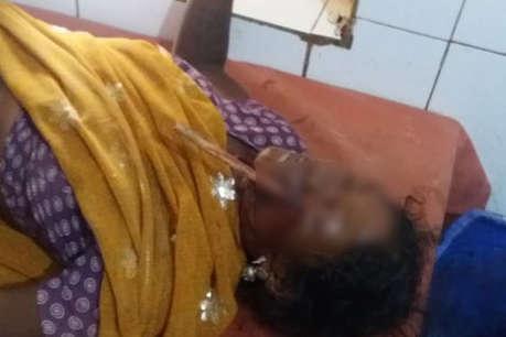 सोनभद्र में आदिवासी महिला पर तीर से हमला, बाईं आंख के नीचे फंसा