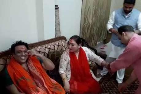 फिल्म अभिनेता गोविंदा ने पत्नी संग किया मां विंध्यवासिनी का दर्शन
