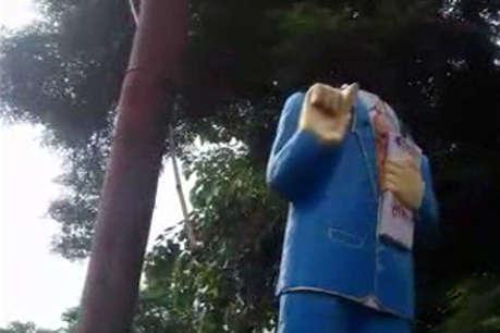 आगरा: भारत बंद से पहले तोड़ी गई आंबेडकर प्रतिमा, गांव में तनाव