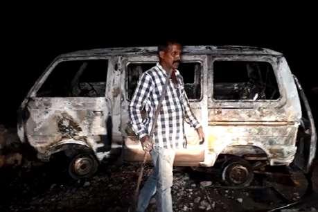 तेज़ रफ़्तार कार दीवार से टकरायी और वो ज़िंदा जल गया